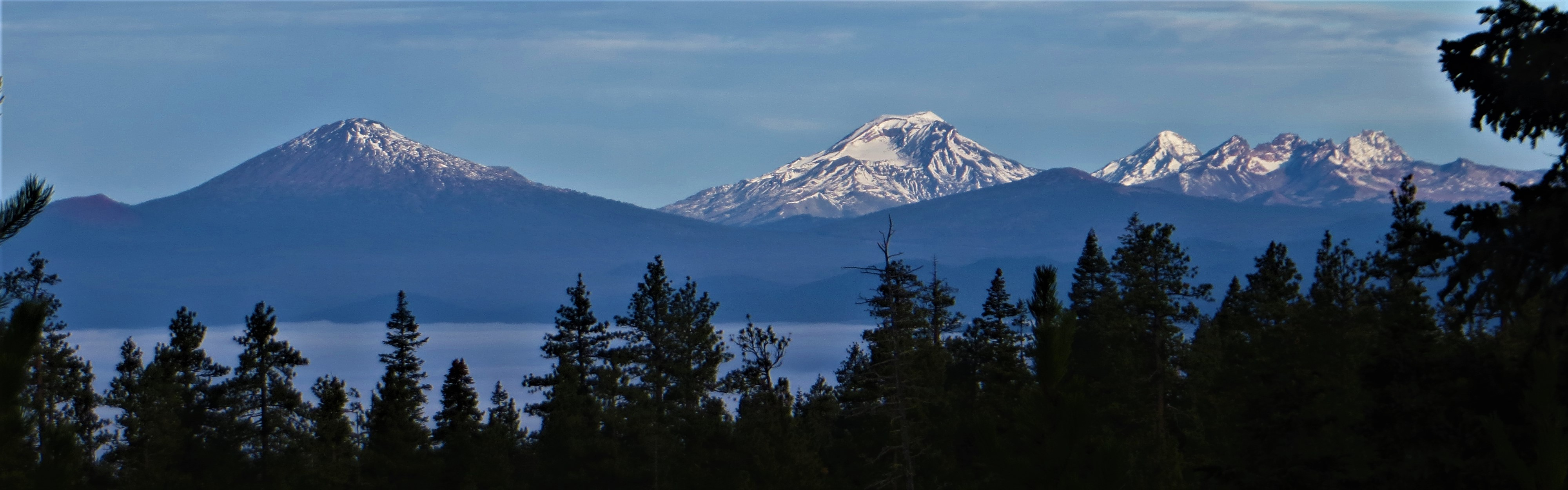 View of Cascade Range from HWY 20, OR